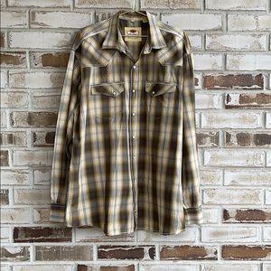 Larry Mahan Pearl Snap Button Down Shirt Sz XXL